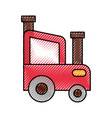 tractor farm isolated icon vector image vector image