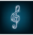 Treble clef with concept diamond vector image