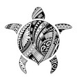 tribal tattoo for aboriginal turtle shape vector image vector image