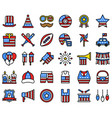 united state independence day filled icon set 2 vector image vector image