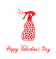 valentines day love card spray bottle dispenser vector image vector image