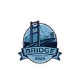 vintage bridge emblem brand badge stock vector image vector image