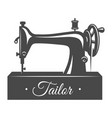 vintage sewing machine concept vector image vector image