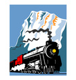 vintage steam train locomotive retro vector image vector image
