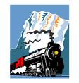 Vintage Steam Train Locomotive Retro vector image vector image