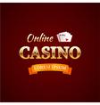 Casino logotype concept casino typography design vector image