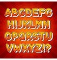 Comic Colorful Alphabet vector image