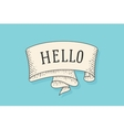 Greeting card with old vintage ribbon and word vector image