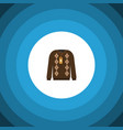 isolated sweater flat icon pullover vector image