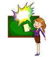 A teacher with an empty callout vector image vector image