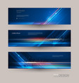 abstract banners set with image speed movement vector image vector image