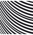 abstract wavy background black and white pattern vector image vector image