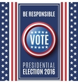 American Presidential Election 2016 vector image vector image