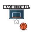 Ball and basket of Basketball sport design vector image vector image