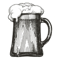 beer mug logo design template draught beer vector image