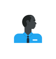 Black man side view turned head security work vector image vector image