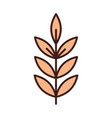 branch tree leaves foliage organic line and fill vector image vector image