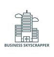 business skyscrapper line icon business vector image vector image