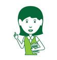 cartoon businesswoman icon vector image