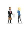cartoon property insurance vector image vector image