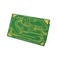 Circuit board icon Technology design vector image vector image