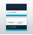clean blue professional business card design vector image vector image