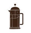 coffee french press maker beverage fresh isolated vector image vector image