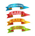 color ribbons with text collection template vector image