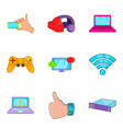 compact equipment icons set cartoon style vector image vector image