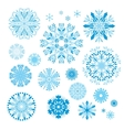 Creative Snowflakes Set vector image vector image