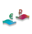 currency exchange from hand to hand euro and vector image
