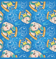 cute dog skying seamless pattern vector image vector image