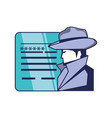 cyber security agent and document with password vector image vector image