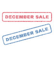 december sale textile stamps vector image vector image