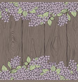 decorative background with lilac and wooden vector image vector image
