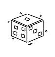 dice icon design vector image