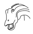 diplodocus icon doodle hand drawn or black vector image vector image