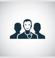 doctor team icon for web and ui on white vector image