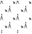 Dog walk icon in black style for web vector image