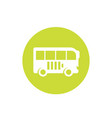 electric bus icon on white vector image vector image