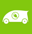 electric car logo eco vehicles symbol ecological vector image