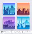 european famous city scapes set vector image vector image
