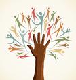 Familiy human hand tree vector image vector image