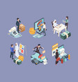 financial isometric business economics 3d objects vector image