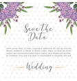 flowers hydrangea decoration wedding save the date vector image