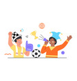 football fans concept vector image vector image