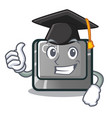 graduation ctrl button isolated in mascot vector image vector image