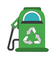 green fuel dispenser vector image