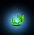 green sprout on a blue background vector image vector image