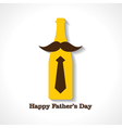 Happy Fathers Day greeting card design vector image vector image